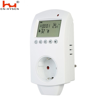 5+2 days programmable 220V plug in thermostat with anti-freezing function