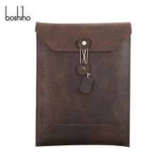 Fashion laptop genuine leather sleeve vintage bag for ipad sleeve