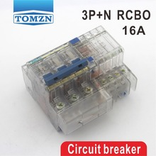 DZ47LE 3P+N 16A 400V~ 50HZ/60HZ Residual current Circuit breaker with over current and Leakage protection RCBO