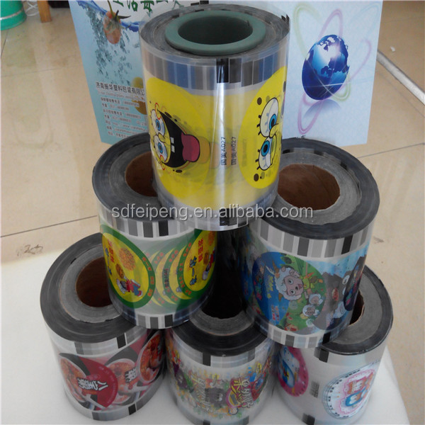 Sale Customized Automatic packing plastic cup sealing roll film