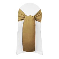 Gold Taffeta Crinkle Chair Sash for weddings