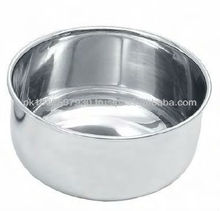 Gallipot, hollow ware pot, stainless steel bowl.