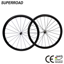 38mm U Shape OEM Cheap Fiber Chinese Cycling 700C Clincher Road Bike Bicycle Toray Carbon Wheels