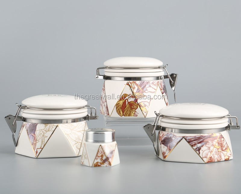 skin cream jar, ceramic beauty cosmetics bottle YCF1510