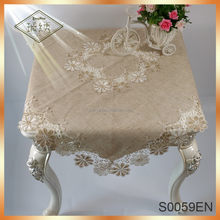 Wholesale Retro Linen Hand Made Embroidery Design Tablecloth