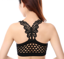New Sexy Push Up Backless Hollow Out Butterfly Women Yoga Sports Bra Running Gym Fitness Stretch Seamless Sports Bars