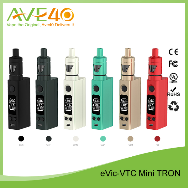 100% original Joyetech eVic-VTC Mini V2 75W TC Box Vapor Upgrade Firmware Launching eVic VTC Mini with Tron Atomizer
