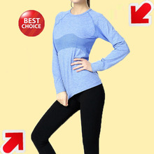 long sleeve fitness yoga wear running jogging breathable yoga top wear