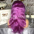 Good Looking Body Wavy 20 Inch Wholesale 100% Human Hair Purple Wig