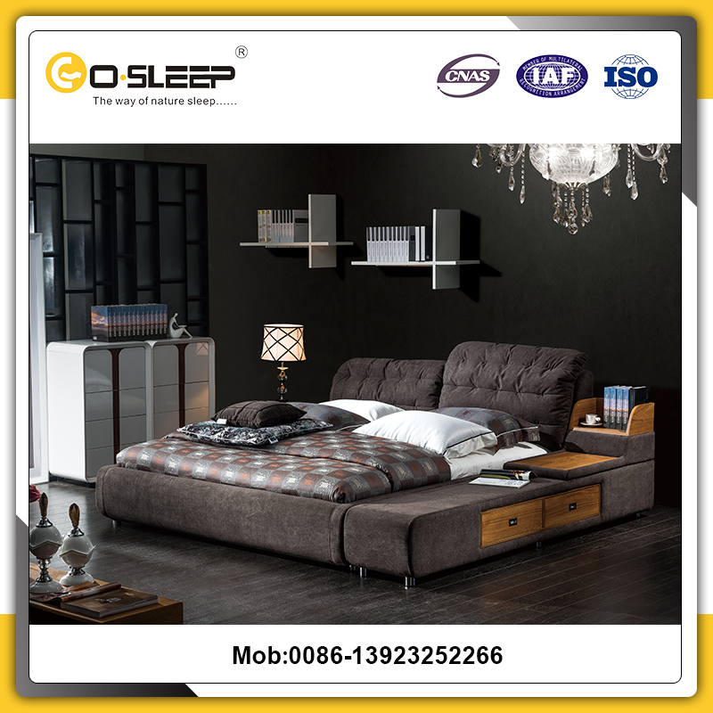 Normal design euro upholstery smart furniture used double bed