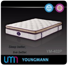 YM-402P Furniture/Room Furniture Bedroom Pocket Spring Mattress Latex Bed Sheets
