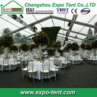 Transparent roof wedding party tent with LED lights for sale