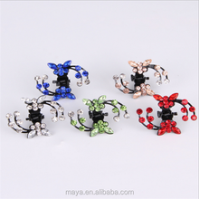 Fashion sweet series korea rhinestone butterfly grasp clips for girl hair clips