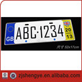 embossed aluminum UK reflective license plate