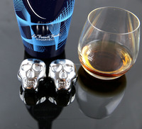Metal Skull Ice Cubes Whisky Drinking Stones For Party