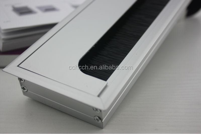 Rectangular Cable Access Computer Hole Cover Aluminium