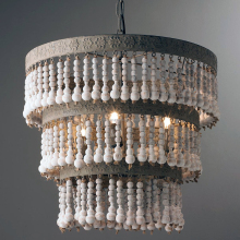 3 layers New hot selling wooden beaded chandelier and pendant