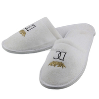 Personalized hotel terry/fleece/nonwoven/waffle slippers.