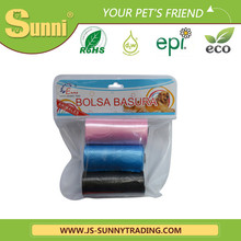 eco-friendly biodegradable D2W pet waste bag dog waste bag for sale