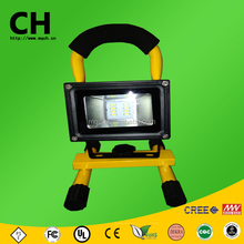 20 w cob y smd mango recargable de carga led exterior de trabajo light led flood light lámpara de mano portable