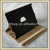 2012 European and American fashional leather covers for ipad 3