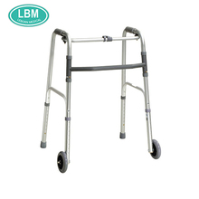 Height adjuster four legs walking stick with forearm rollator