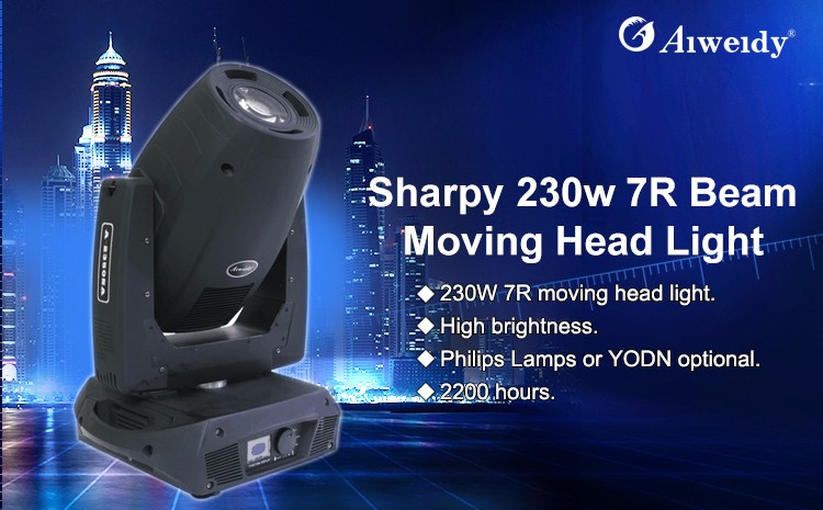 Strong heat dissipation sharpy 330w 15r beam moving head spot stage light