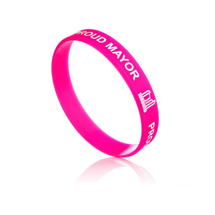 HOT sale personalized logo debossed silicone bracelet color printing rubber wristband for festival