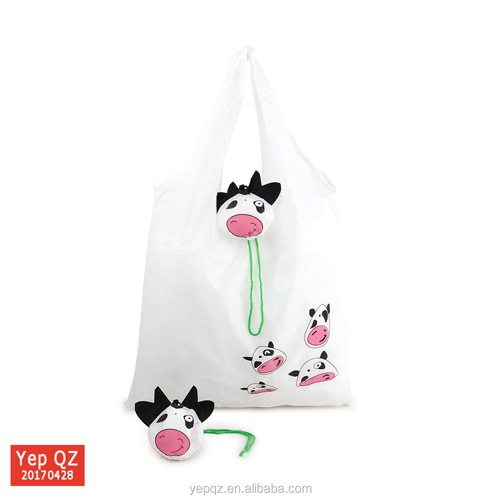 Wholesale eco friendly small animal carrying bag recycled polyester folding bag