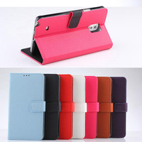 Chic stand leather wallet phone case for samsung galaxy note 4