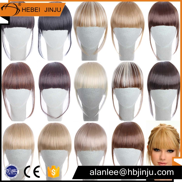 China factory price Chinese 100 human hair pieces straight bangs