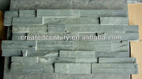 Green ledge slate veneer wall panel