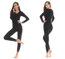 Thin Thermal Slimmimg Sexy Winter heated thermal underwear suit,long johns