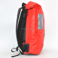 10L 500D Tarpaulin backpack bag waterproof dry bag with a water bottle holder for outdoor sports