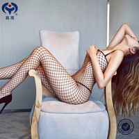 sexy lady fishnet bodysuits open crotch hot fashion show lingerie