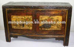 Tibetan antique two door hand painted cabinet