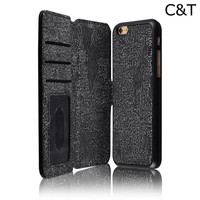 C&T book style cover for iphone 5c leather case