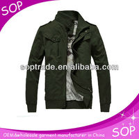 Wholesale fashion cargo jacket 100% cotton military jackets men Guangzhou