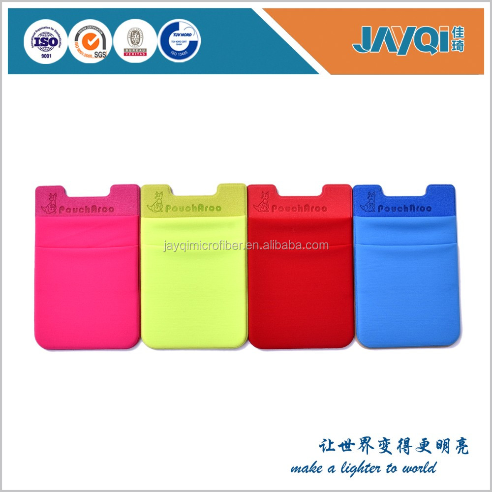 Colorful 3M smart wallet stick on the phone