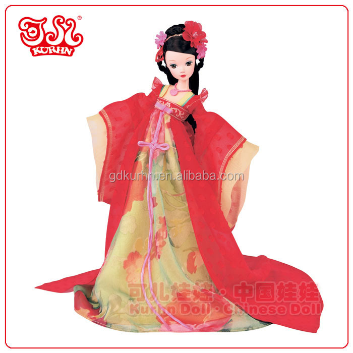 New design 2015 plastic Chinese bride doll for wedding gift