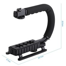 SHOOT camera handheld stabilzer with Portable LED Light for gopro Hero 4/5 Action for gopro handle Stabilizer /accessory