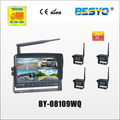 "9"" wireless digital monitor & 4PC wireless camera 4 QUAD digital monitor systems BY-08109WQ"