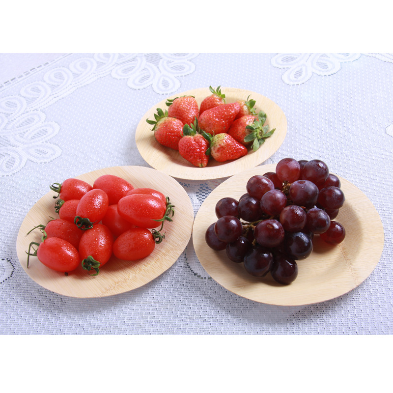 Hot sales biodegradable disposable wood tray set