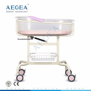 AG-CB009 Mobile import infant basin crib ABS plastic material hospital newborn baby bed cot price for sale