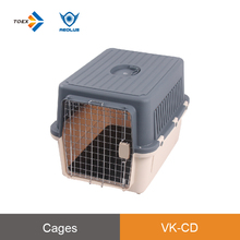 VK-CD Stable structure waterproof dog kennel safe latching pet carrier ergonomic handle dog pet flight cage