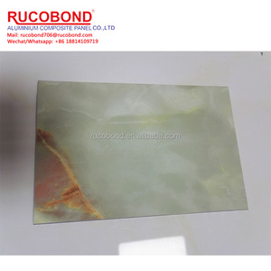 4mm light green and orange nature marble aluminum core panel