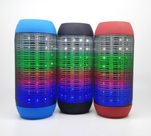 2016 portable LED flash show bluetooth speaker with TF card and FM radio