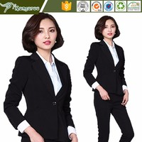 KU016 Carmy 2016 New Style Japan Corporate Ladies Latest Office Uniform Design