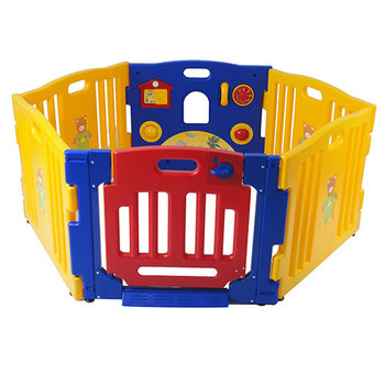 Child 6 Sided Hexagon Plastic Playpen Safety Gate Play Pen