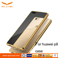 2017 case Electroplating TPU transparent anti drop shell soft case for huawei p8 case